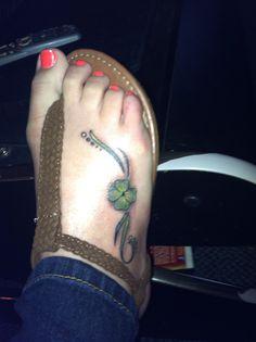 My four leaf clover tattoo