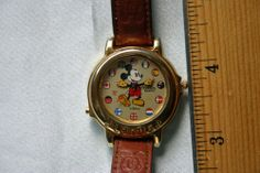 watch music, mickey mouse, flag leather, 90s stuff, mous watch, regress obsess