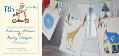 story books, abc shower, baby shower ideas, baby boy shower, abc babi, alphabet babi, babi shower, parti, baby showers