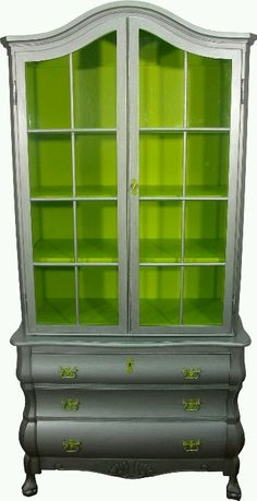 Vintage hand painted armoire by green in mind.