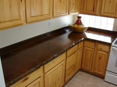 stained concrete countertops