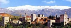#Alhambra #Castle #Spain #Beautiful #Mountains