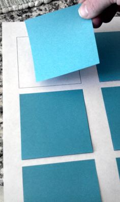 Template for printing on Post-It Notes!  You just run them through the printer.  It works really well!