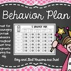 FREEBIE! This little document was born from a parent need! She needed a behavior chart to help motivate her daughter into staying focused and on-ta...
