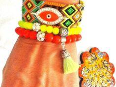 SALEGYPSYs LUCk bracelet bohemian bracelet evil eye by Nezihe1