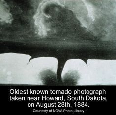 Oldest known tornado photograph.  1884