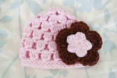 crochet hat, craft flowers, free pattern, crochet baby hats, hat pattern, alli craft, cluster hat, crochet patterns, flower patterns