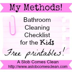 Bathroom Cleaning Checklist for the Kids
