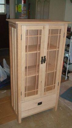 Mission Bookcase Quartersawn Oak~Unfinished