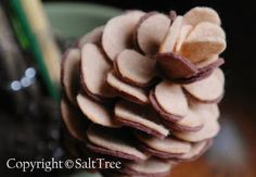 felt pine cone with Template
