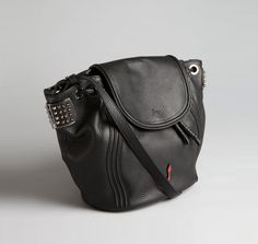 Christian Louboutin  Black Leather 'Dompteuse' Spiked Backpack