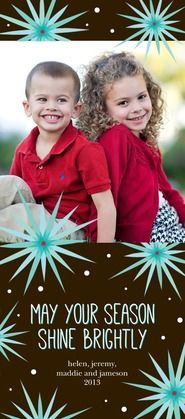 Bursting in Bliss Holiday Photo Card in a rich coffee brown. #TinyPrintsCheer