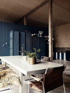 interior, cabinet colors, blue walls, modern rustic, garages