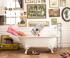 pink in tub...