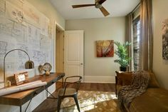 M&M Show House 2011 - transitional - home office - new orleans - Maria Barcelona Interiors, LLC