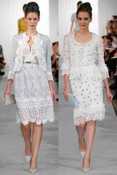 oscar de la renta spring 2013 white crochet dresses