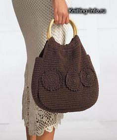 схема вязания крючком сумок