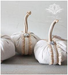 dropcloth pumpkins @ClothandPatina