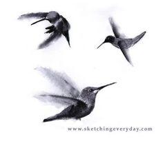 Hummingbird tattoo.