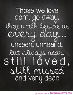 Miss my loved ones but know the will always be my guardian angels