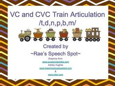Articulation Trains! /t,d,n/