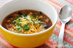 Crock Pot Chicken Enchilada Soup — Punchfork