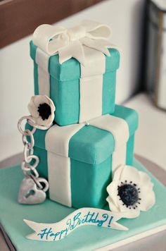 Tiffany gift boxes cake