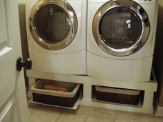 Crazy Wonderful: Washer/Dryer Stand Installed