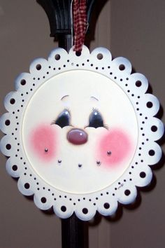 Handpainted Tin Snowman Plate by School Street Primitives on Etsy, $15.00