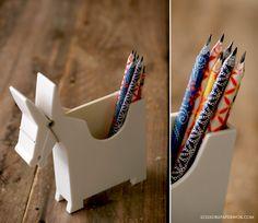 DIY paper pencils