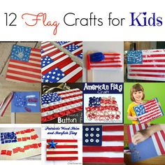 Fourth of July Flag crafts for kids!