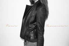 Nour Hammour leather jacket