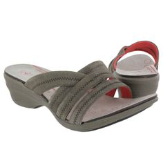 Hush Puppies Women's ETHOS SLIDE taupe suede sandals
