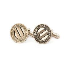 St Louis Cufflinks - Missouri - Made from Tokens. Pretty awesome St. Louis gift!