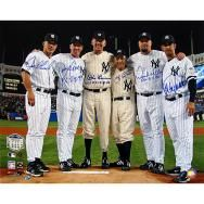 New York Yankees Final Game At Yankee Stadium Perfect Game Pitchers And Catchers 16x20 Photograph.  #steinersports