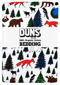 Duns Single bed linen set - Camping in the forest