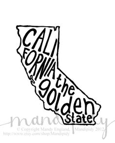 California+The+Golden+State++Place+I+Love+Print++by+Mandipidy,+$17.50