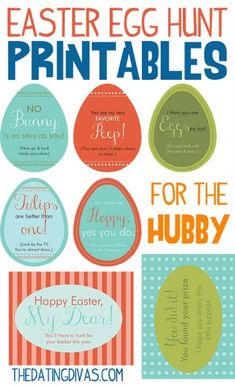 Free Easter Egg Hunt printables for the hubby!