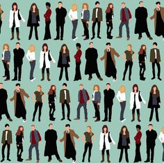 doctors and friends fabric by scrummy on Spoonflower - custom fabric