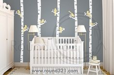 Birch Tree Wall Decal For Nursery Or Playroom