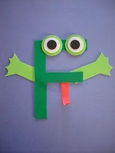 """Letter """"F"""" Frog"""