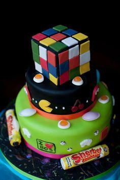 80's inspired birthday cake