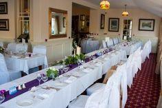 Gougane Barra Hotel's Restaurant all set up for John and Anita's wedding day