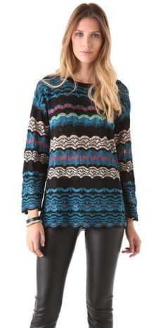 (Limited Supply) Click Image Above: M Missoni Lace Weave Oversized Knit Sweater