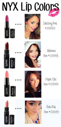 My Favorite NYX Lipsticks