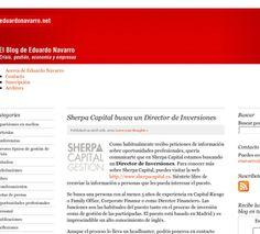 Sherpa Capital busca un Director de Inversiones