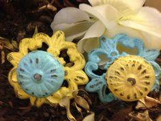 Drawer Pulls / Drawer Knobs / Shabby Chic Knobs / Fleur De Lis Knobs on Etsy, $10.25