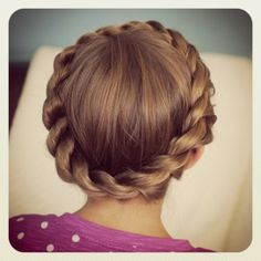 Crown Twist...a new fav variation on the crown braid!  #CGHCrownTwist