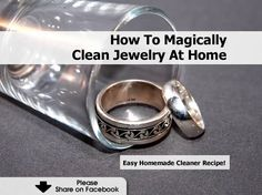 How To Magically Clean Jewelry At Home bead stuff, idea, at home, cleanses, clean jewelri, jewelri cleaner, cleaner remedi, homes, magic clean