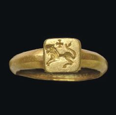 A BYZANTINE GOLD FINGER RING CIRCA 4TH-5TH CENTURY A.D.